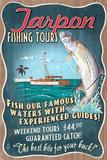 Tarpon Fishing Tours - Vintage Sign