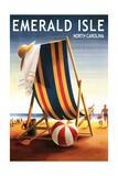 Emerald Isle  North Carolina - Beach Chair and Ball