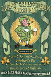 Leprechaun Irish Pub - Vintage Sign