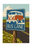 "VW Van ""Bus Lane"" Sign"