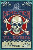 Skull and Crossbones - Vintage Sign