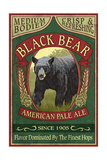 Black Bear Ale - Vintage Sign