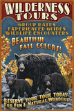 Black Bear Family - Vintage Sign