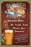 Aviator Beer - Vintage Sign