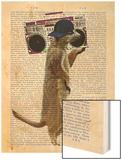 Meerkat with Boom Box Ghetto Blaster