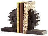 Gear Bookend Pair