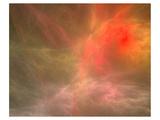 Fractal Cosmic Nebula Canvas