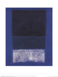No. 14 White and Greens in Blue Reproduction d'art par Mark Rothko