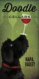 Doodle Wine II Black Dog Reproduction d'art par Ryan Fowler