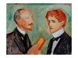 Albert Kollman and the Danish Author  1901