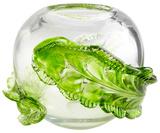 Crystal Wrap Leaf Vase - Small