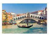 Gondola & Rialto Bridge Venice