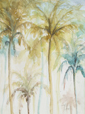 Watercolor Palms in Blue II