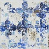 Blue Quatrefoil III