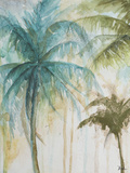 Watercolor Palms in Blue I