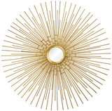 Cairo Sunburst Gold Mirror*