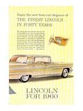 Lincoln 1960 Town Car Elegance
