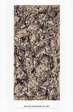 Cathédrale Reproduction d'art par Jackson Pollock