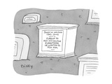 "(A tombstone for John W Wilson reads ""Forgot to ask his doctor everything…"" - New Yorker Cartoon"