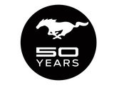 Mustang 50 Years Black Logo
