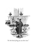 """""""It's the kind of bag you can dive into"""" - New Yorker Cartoon"""