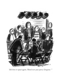 """Ask him to repeat again  'Hand over your purse  Gorgeous"" - New Yorker Cartoon"