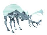 Mountain - Deer - Silhouette