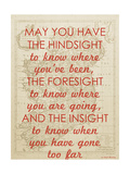 An Irish Blessing on Hindsight  Foresight & Insight - 1741  Ireland Map