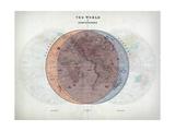 Venn Diagram of Humans - 1873  The World in Hemispheres Map