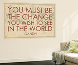 You must Be the Change You Wish to See in the World (Gandhi) - 1835  World Map