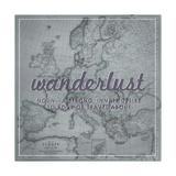 Wanderlust - 1915 Europe Map with Africa and Asia Map Giclée par National Geographic Maps