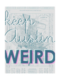 Keep Austin Weird - 1939  Austin Chamber of Commerce  Texas  United States Map