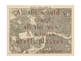 All the World's a Stage (Shakespeare) - 1892  Central London  United Kingdom Map