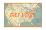 Get Lost - 1933 United States of America Map Giclée par National Geographic Maps