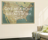 Give me a Home where the Buffalo Roam - 1933 United States of America Map
