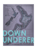 Down Under…er - 1895  New Zealand Map