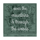 Over the Mountains & Through the Woods - 1881, Yellowstone National Park 1881 Map Giclée