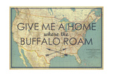 Give me a Home where the Buffalo Roam - 1933 United States of America Map Giclée par National Geographic Maps