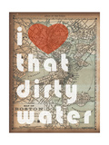 That Dirty Water - 1890  Boston  Massachusetts Map