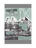 Portland Has Everything  Oregon Travel Poster
