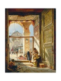 The Gate of the Great Umayyad Mosque, Damascus, 1890 Aluminium par Gustave Bauernfeind
