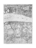 A Map of St Paul's and Bankside  London  1746