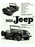Willys 1955 Jeep Reproduction d'art