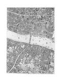A Map of Old London Bridge  London  1746
