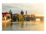 Sunset over Prague & Vlatava