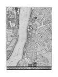 A Map of Lambeth and Vauxhall  London  1746