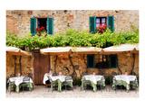 Quaint Cafe in Tuscany Italy