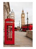Phone Box London Bus & Big Ben