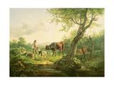 Landscape with a Shepherd  1826