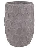 Carved Lotus Petal Pot - Tall